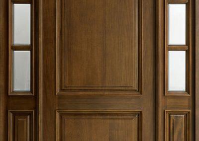 Entrance doors of massive wood